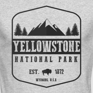 Yellowstone National Park Long Sleeve Shirts - Men's Long Sleeve T-Shirt by Next Level