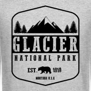 Glacier National Park Long Sleeve Shirts - Crewneck Sweatshirt