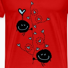 hearts tree love Men's Premium T-Shirt