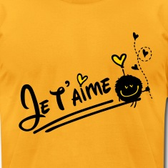 Je t'aime love cute Men's T-Shirt by American Appa