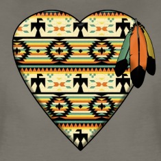 Native American Heart Women's T-Shirts
