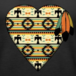 Native American Heart Tanks - Women's Premium Tank Top