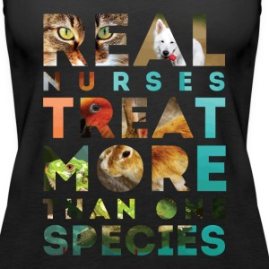 Veterinary Nurse Real Nurses T-shirt Tanks - Women's Premium Tank Top
