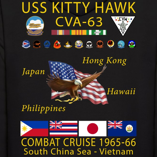 USS KITTY HAWK CVA-63 COMBAT CRUISE 1965-66 HOODIE