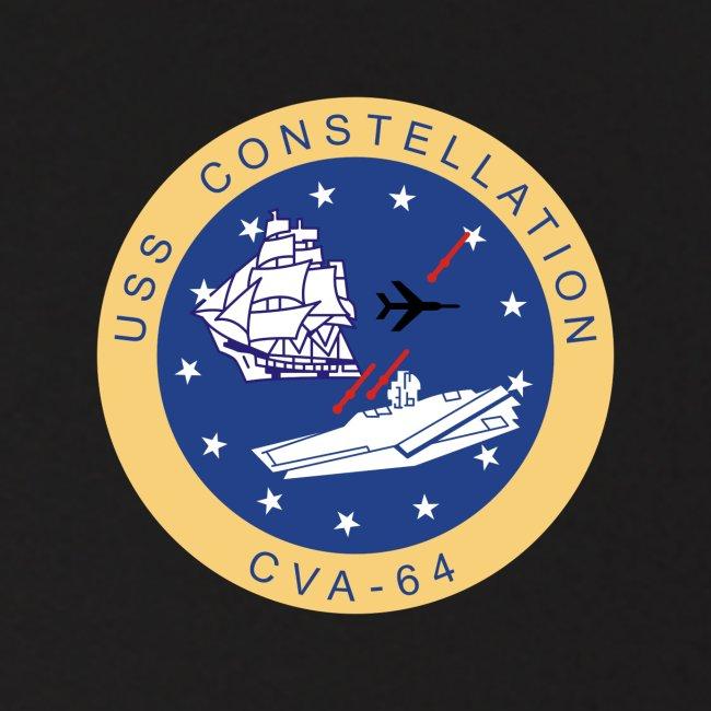USS CONSTELLATION CVA-64 COMBAT CRUISE 1964-65 HOODIE