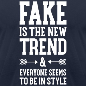 Fake Is The New Trend... T-Shirts - Men's T-Shirt by American Apparel