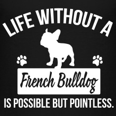 Dog shirt: Life without a Frenchie is pointless Kids' Shirts
