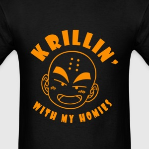 Krillin With My Homies - Men's T-Shirt