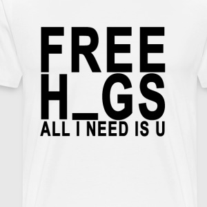 free_h_gs_all_i_need_is_u - Men's Premium T-Shirt
