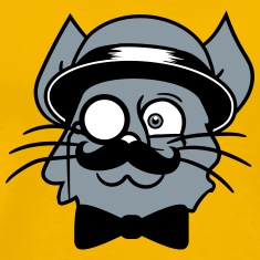 face head sir mr mustache monocle glasses cylinder T-Shirts