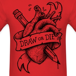 Draw or Die - Black T-Shirts - Men's T-Shirt