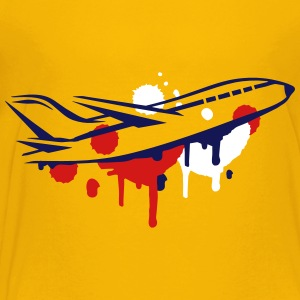 An airplane Graffiti Kids' Shirts - Kids' Premium T-Shirt