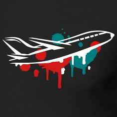 An airplane Graffiti Long Sleeve Shirts