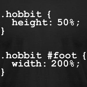 The Hobbit Code T-Shirts - Men's T-Shirt by American Apparel