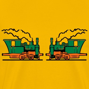 Steam Locomotives railroad small T-Shirts - Men's Premium T-Shirt