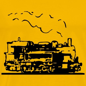 dampflok locomotive old romance T-Shirts - Men's Premium T-Shirt