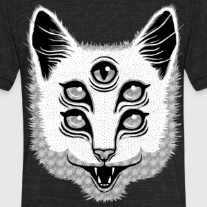 Creep Cat T-Shirts - Unisex Tri-Blend T-Shirt by American Apparel