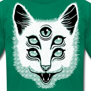 Creep Cat T-Shirts - Men's T-Shirt by American Apparel