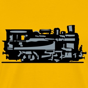 dampflok lok railroad small T-Shirts - Men's Premium T-Shirt