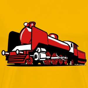 dampflok railroad tender T-Shirts - Men's Premium T-Shirt