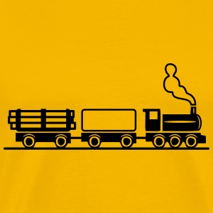 dampflok railroad toy freight train T-Shirts - Men's Premium T-Shirt