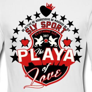 PLAYA OF LOVE MEN'S LONG SLEEVE GRAPHIC TEE - Men's Long Sleeve T-Shirt by Next Level