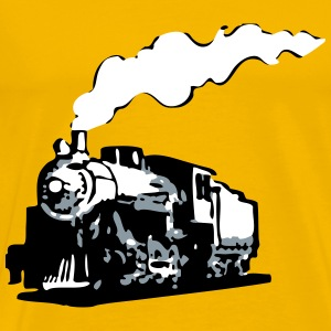 dampflok railroad locomotive romance T-Shirts - Men's Premium T-Shirt