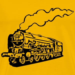 dampflok railroad locomotive tender romance T-Shirts - Men's Premium T-Shirt