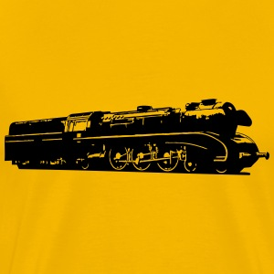 dampflok railroad locomotive T-Shirts - Men's Premium T-Shirt