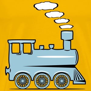 dampflok railroad locomotive toy T-Shirts - Men's Premium T-Shirt