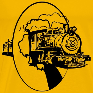 dampflok railroad lok cool T-Shirts - Men's Premium T-Shirt
