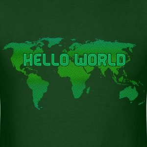 Hello World Green T-Shirts - Men's T-Shirt