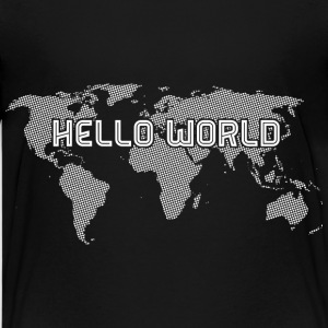 Hello World White Kids' Shirts - Kids' Premium T-Shirt