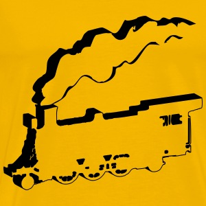 dampflok art railroad T-Shirts - Men's Premium T-Shirt