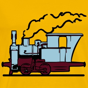 dampflok railroad small T-Shirts - Men's Premium T-Shirt