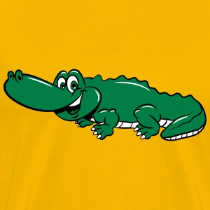 Crocodile sweet loving comic child T-Shirts - Men's Premium T-Shirt
