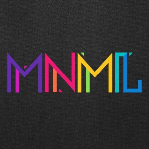 Minimal Type (Colorful) Typography - Design Bags & backpacks - Tote Bag