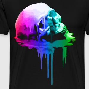 Melting Skull in Vivid Colors - Men's Premium T-Shirt