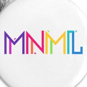 Minimal Type (Colorful) Typography - Design Buttons - Small Buttons