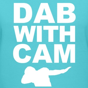 Dab with Cam Women's T-Shirts - Women's V-Neck T-Shirt