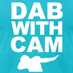 Dab with Cam T-Shirts - Men's T-Shirt by American Apparel