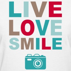 Live Love Smile Women's T-Shirts