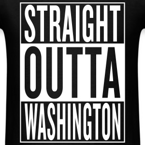 straight outta Washington T-Shirts - Men's T-Shirt
