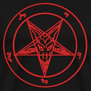 Red Baphomet T-Shirts - Men's Premium T-Shirt