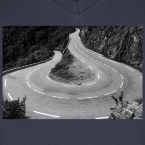 Alpe d'Huez T-Shirts - Men's V-Neck T-Shirt by Canvas