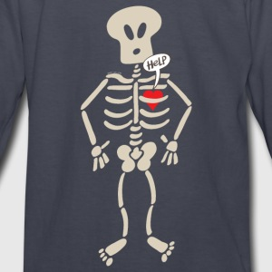 Heart Imprisoned in a Rib Cage Kids' Shirts - Kids' Long Sleeve T-Shirt