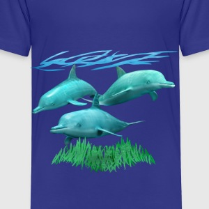 3 Dolphins - Toddler Premium T-Shirt