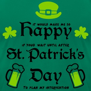 Happy St. Patrick's Day T-Shirts - Men's T-Shirt by American Apparel