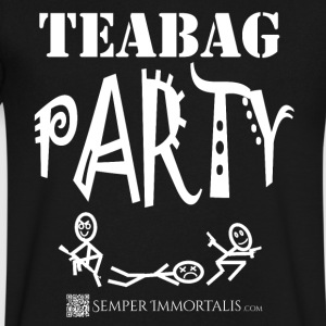 Men's Teabag Party Shirt - Men's V-Neck T-Shirt by Canvas