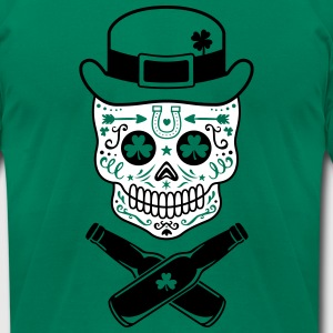 St. Patrick's Sugar Skull T-Shirts - Men's T-Shirt by American Apparel